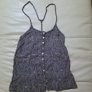Womens tank top button front top